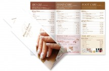 BlancCherie 様 三つ折メニューパンフレット/A4 4色カラー